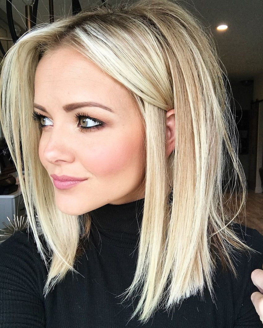 Flattering haircuts for blondes